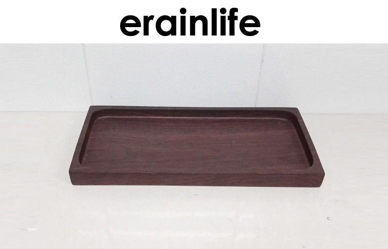 Bathroom Accessory Set Towel Tray Poly Resin Material Woody Finishing