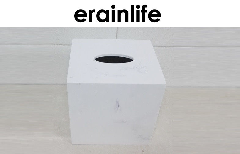 Imitate Marble Finish Eco-Friendly Tissue Box Bathroom Accessory Set Hotel Item